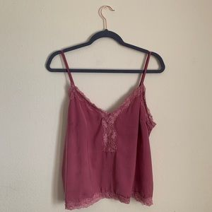Pink Lace Tank Top | F21